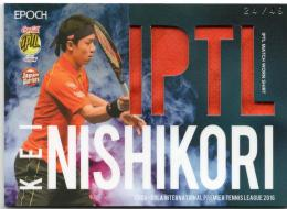 2016 EPOCH IPTL   Kei Nishikori Match Worn Shirt 24/49