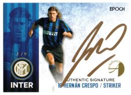 2016/17 EPOCH/AUTHENTICA FC INTERNAZIONALE MILANO Authentic Signatures Horizontal Gold / HERNAN CRESPO 【4/9】