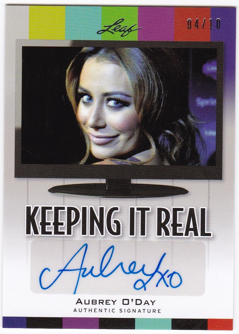 2011 Pop Century Keeping It Real Autographs #KRAO2 AUBREY O'DAY 04/10