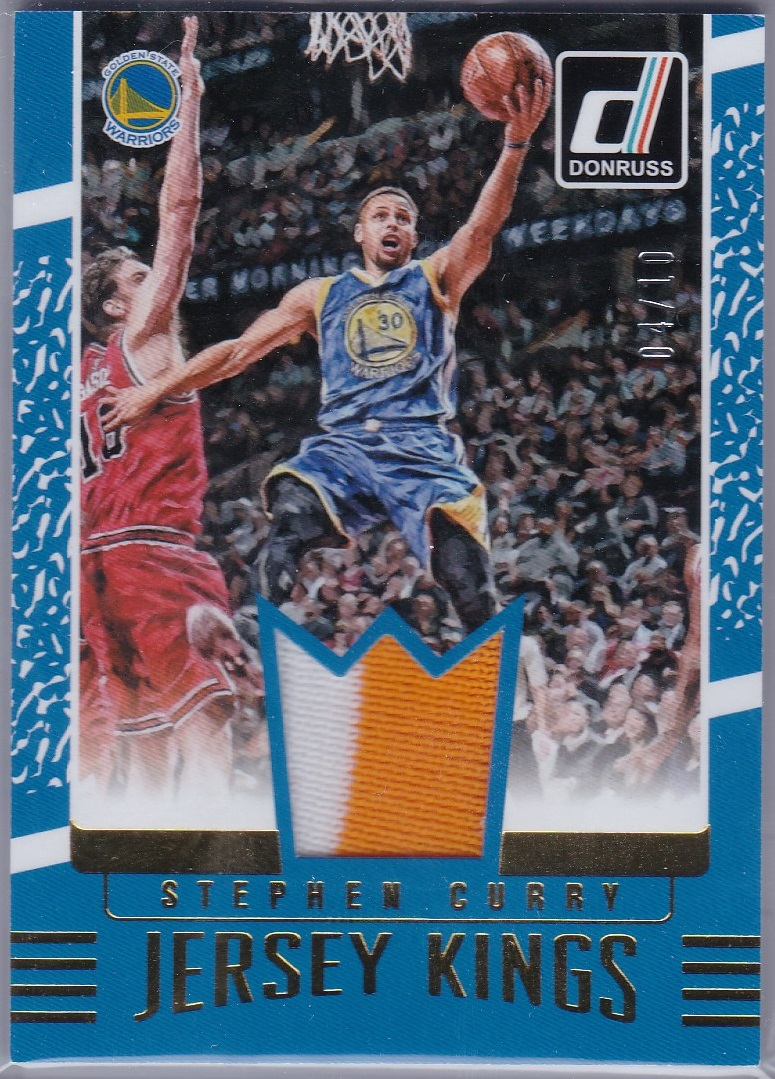2016-17 Donruss Jersey Kings Prime Stephen Curry